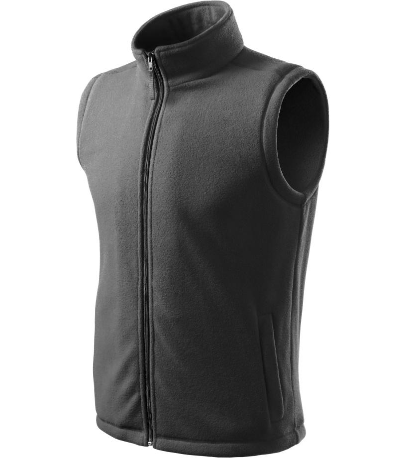 ADLER Next Unisex fleece vesta 51836 ocelová šedá M