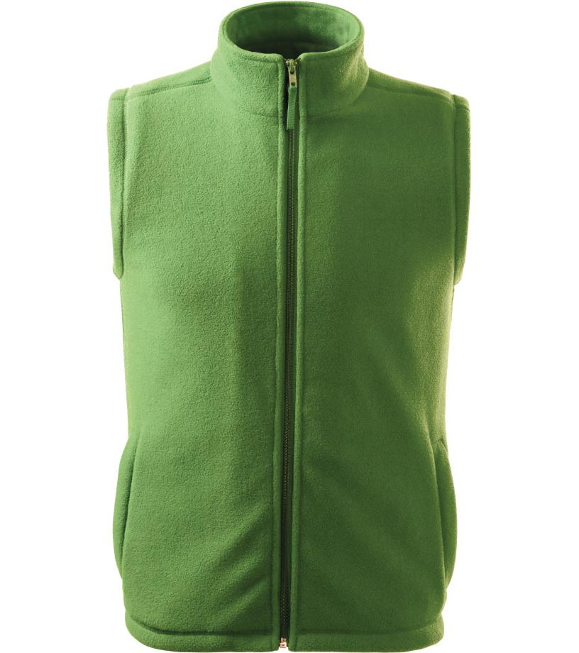 RIMECK Next Unisex fleece vesta 51839 trávově zelená L