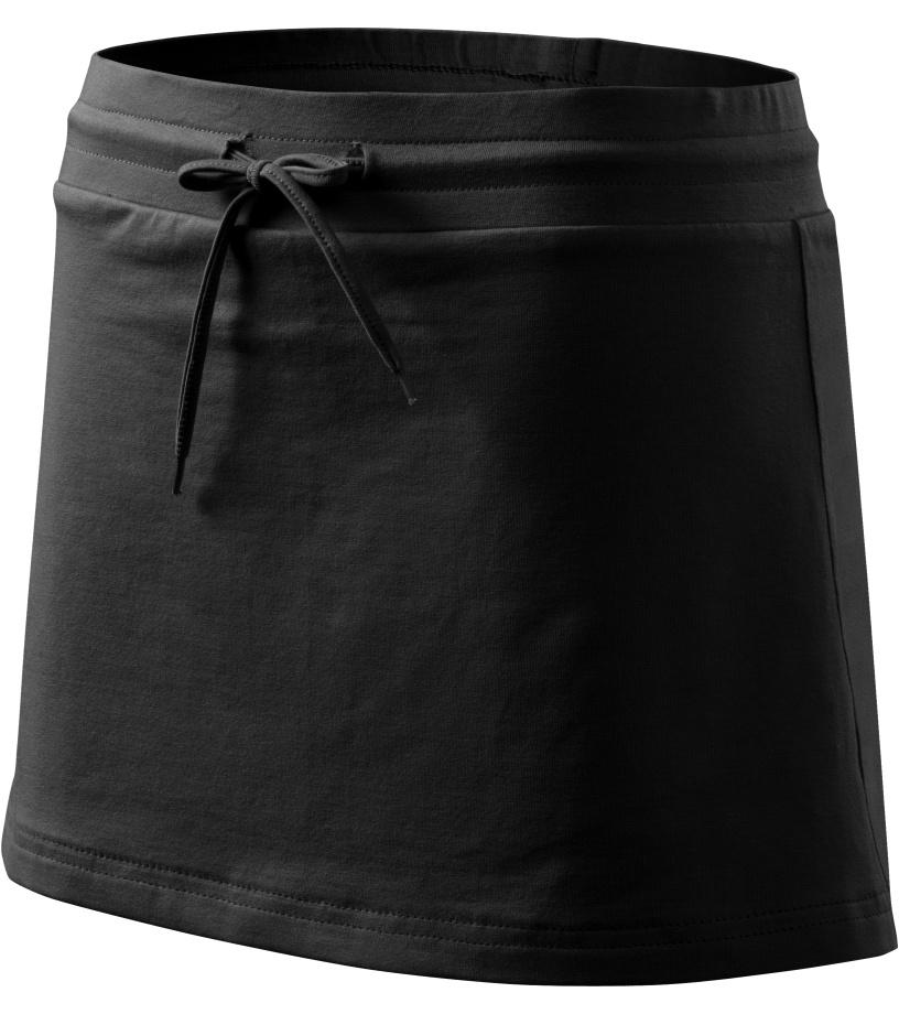 ADLER Sukně se všitými kraťasy 60401 černá