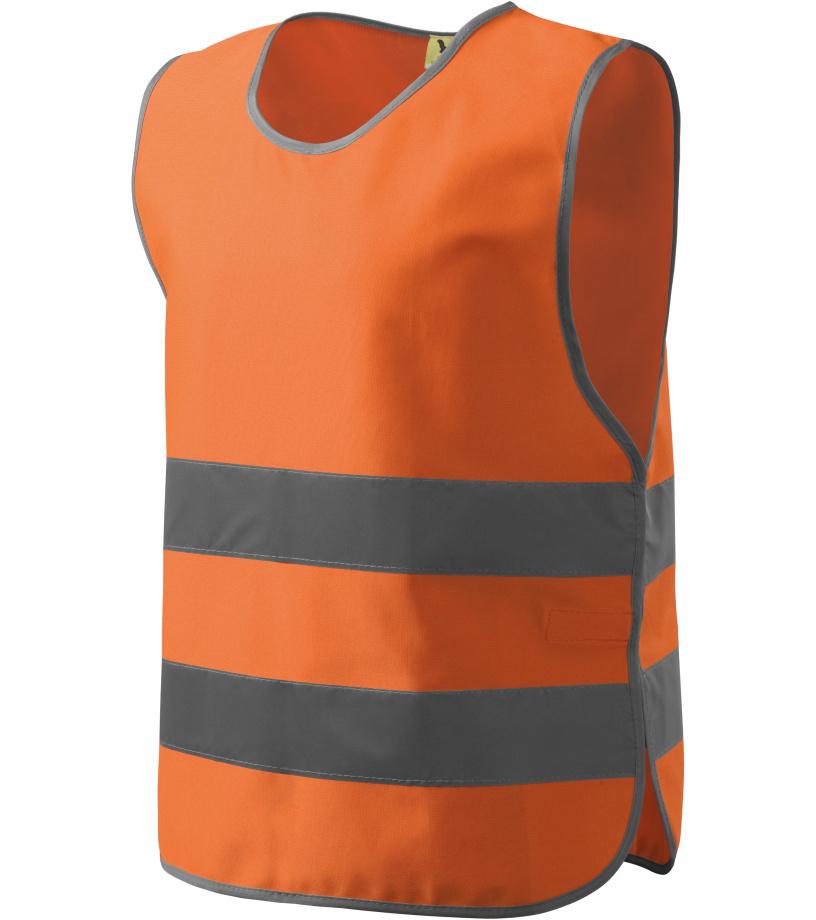 RIMECK Safety vest Bezpečnostní vesta 90698 reflexní oranžová XXXL