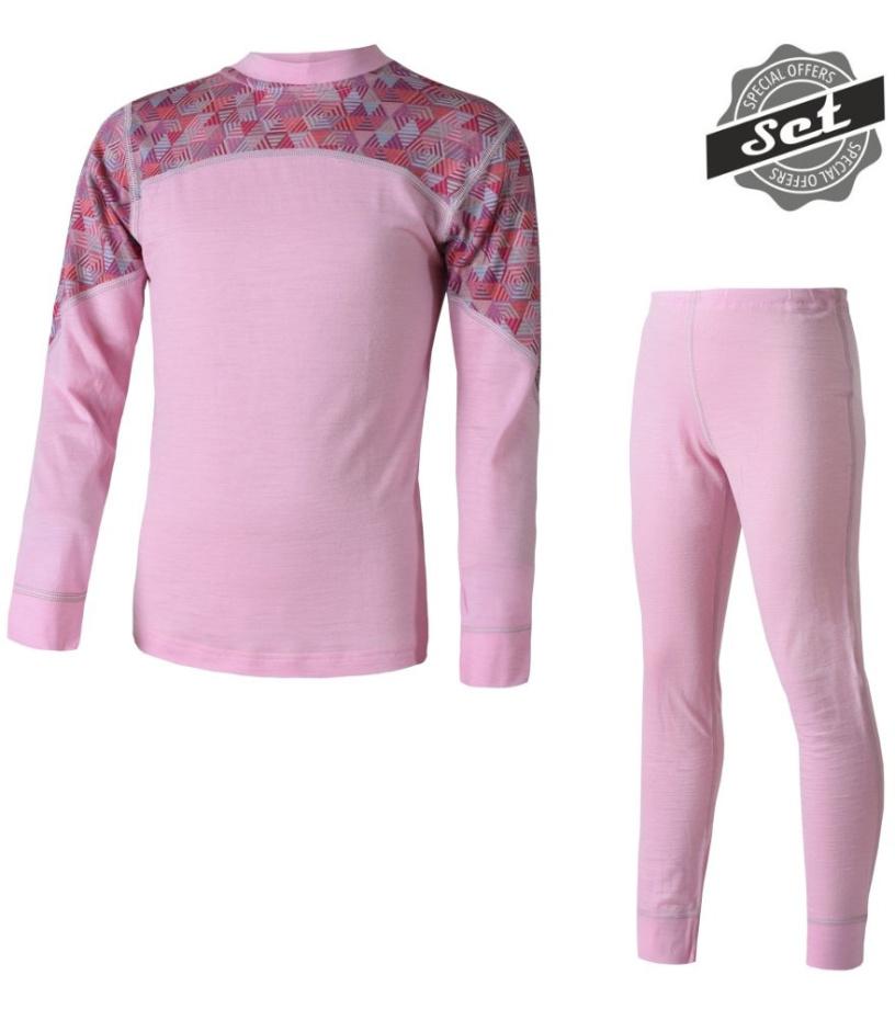 růžová/pattern - růžová