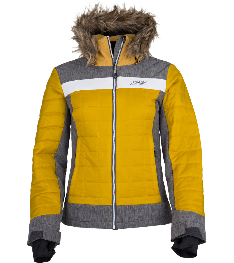 KILPI Dámská lyžařská bunda LEDA-W FL0003KIKHK Khaki 38