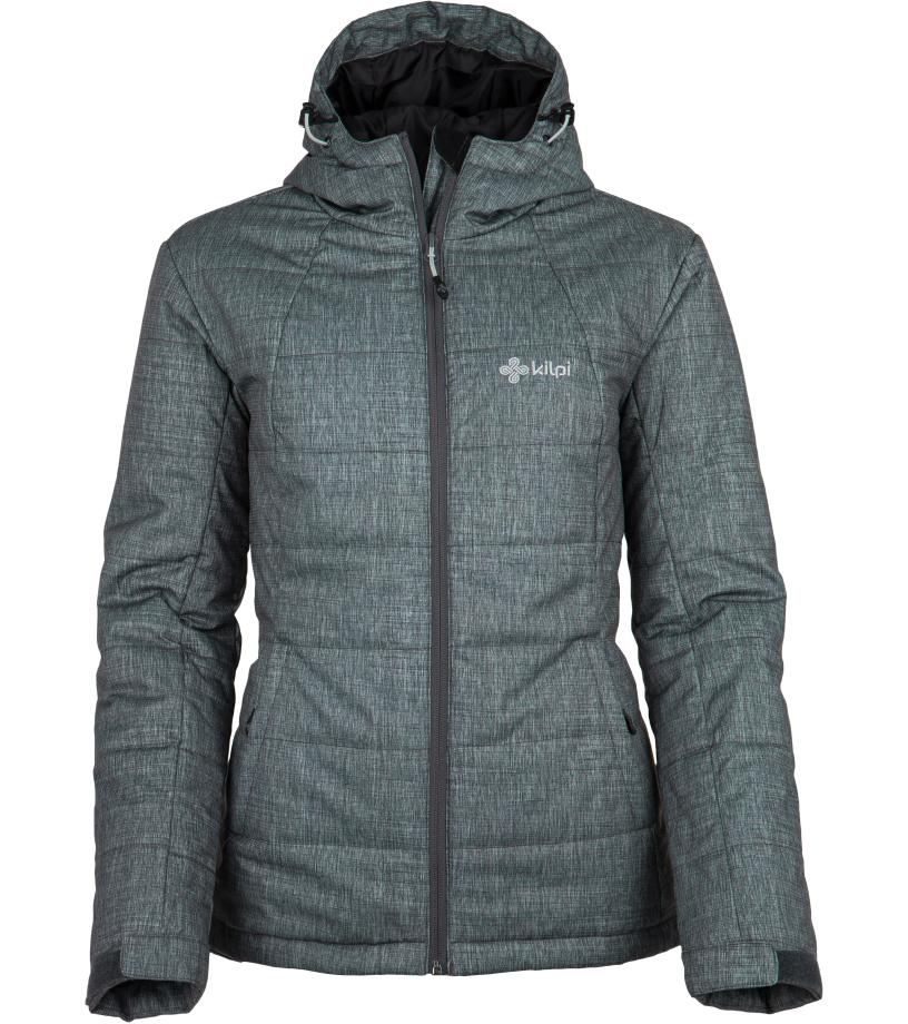 KILPI Dámský zimní kabát PARIS-W FL0045KIDGY Tmavě šedá 34