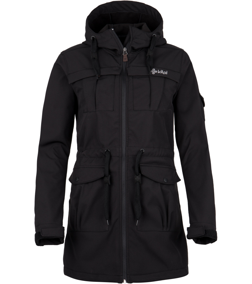 KILPI Dámský softshellový kabát LASIKA-W FL0077KIBLK Černá 38