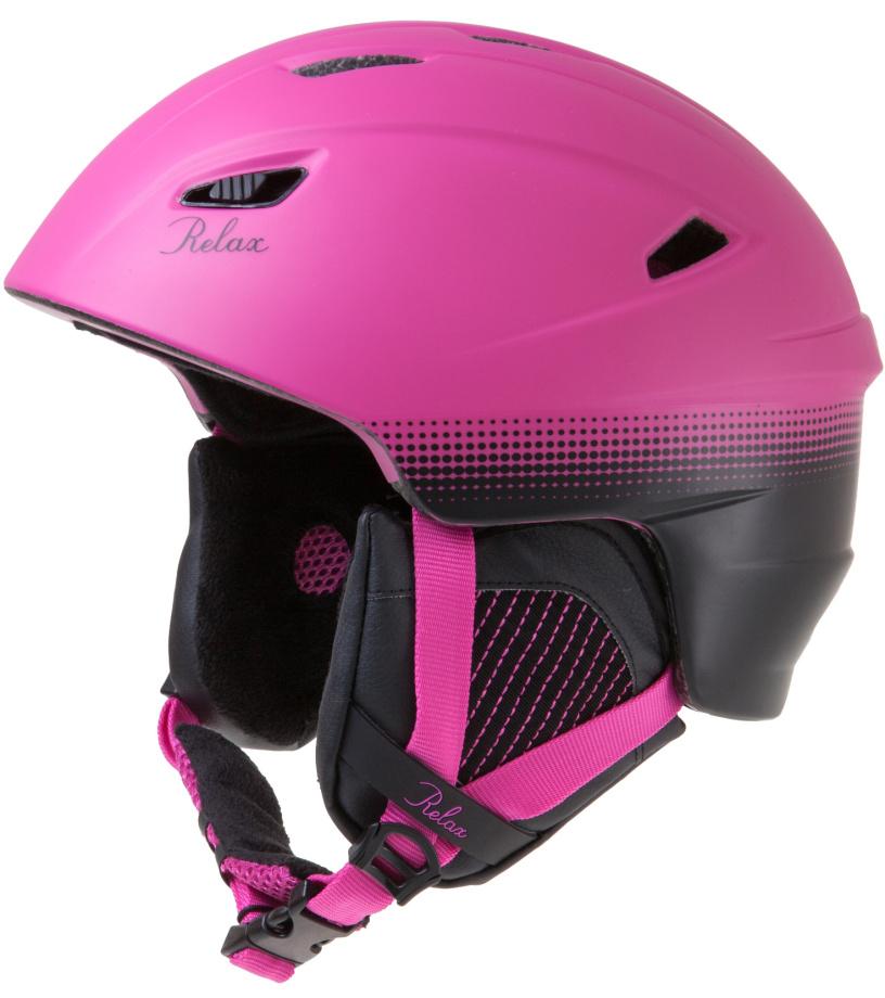 RELAX WILD Lyžařská helma RH17F růžová S