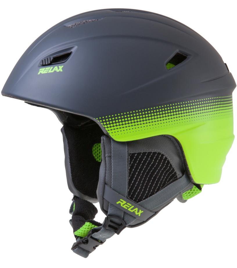 RELAX WILD Lyžařská helma RH17G černá/zelená L