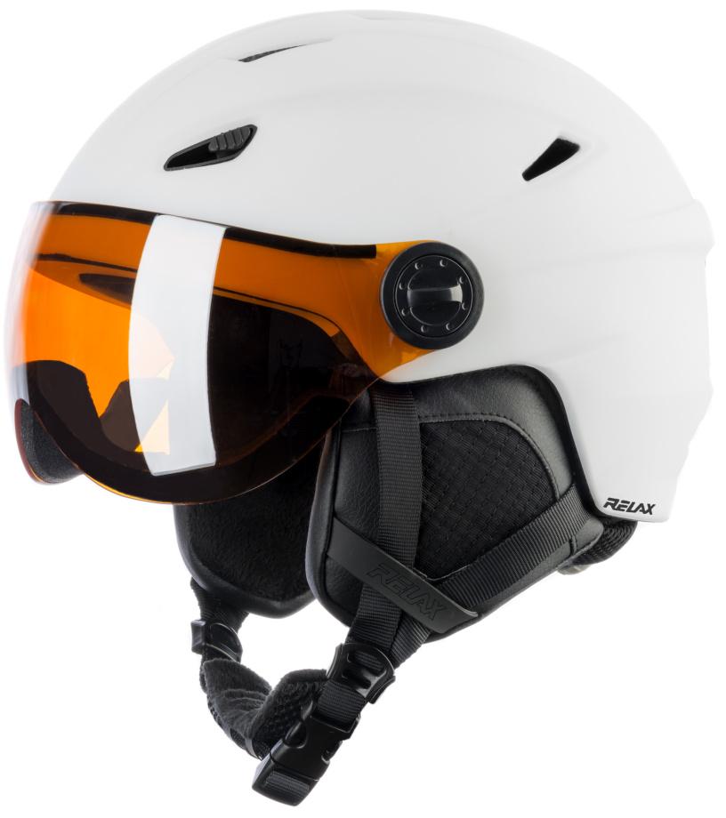 RELAX STEALTH Lyžařská helma RH24B bílá M
