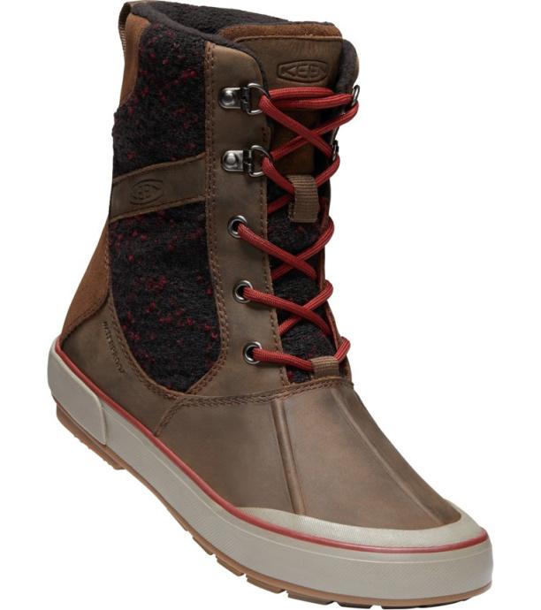 KEEN ELSA II WOOL WP W Dámská zimní obuv 10000734KEN01 cascade brown/fired brick 4(37)