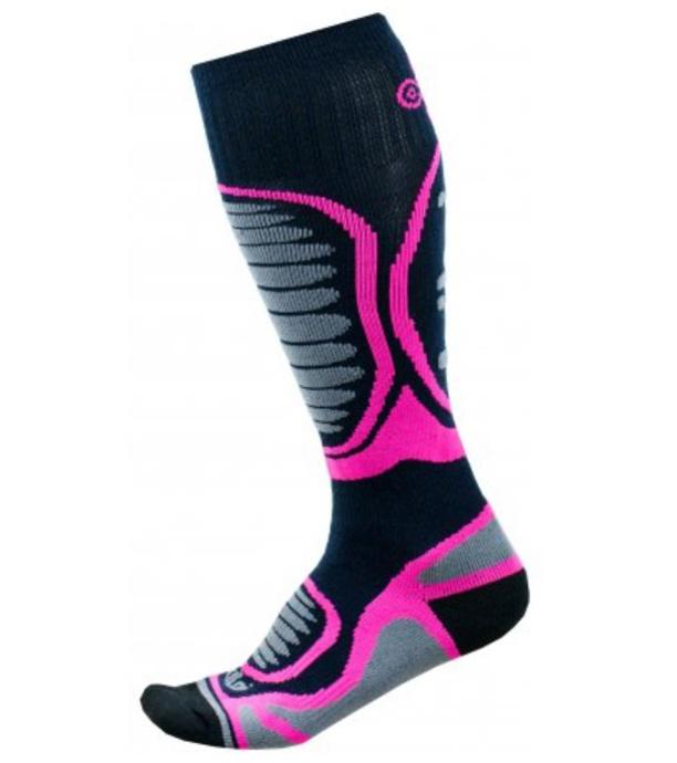 KILPI Dětské lyžařské ponožky - merino ANXO-J JJ0060KIPNK Růžová 35