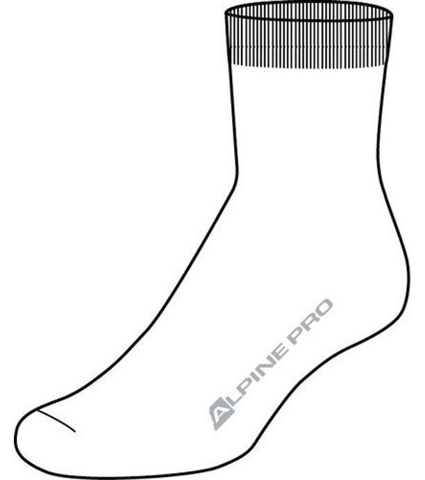 751459495f9 ALPINE PRO 2ULIANO Unisex ponožky 2 páry USCZ013000 bílá L
