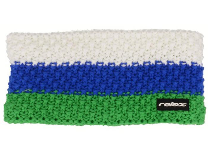 RELAX STRIPY Zimní čelenka RKH116B zelená