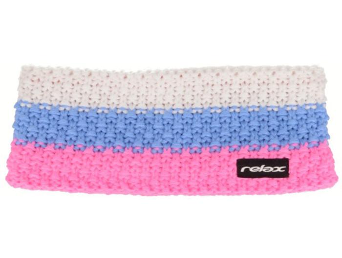 RELAX STRIPY Zimní čelenka RKH116C růžová