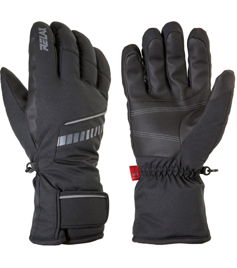 RELAX DOWN Lyžařské rukavice RR12A černá S