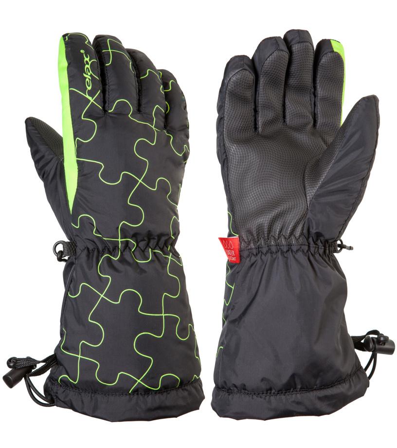 RELAX PUZZY Junior lyžařské rukavice RR15A černo-žlutá