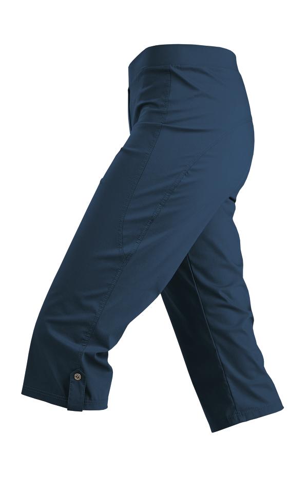 Litex kalhoty damske bokove v 3 4 delce 99564514 tmave modra l levně ... f52181c040
