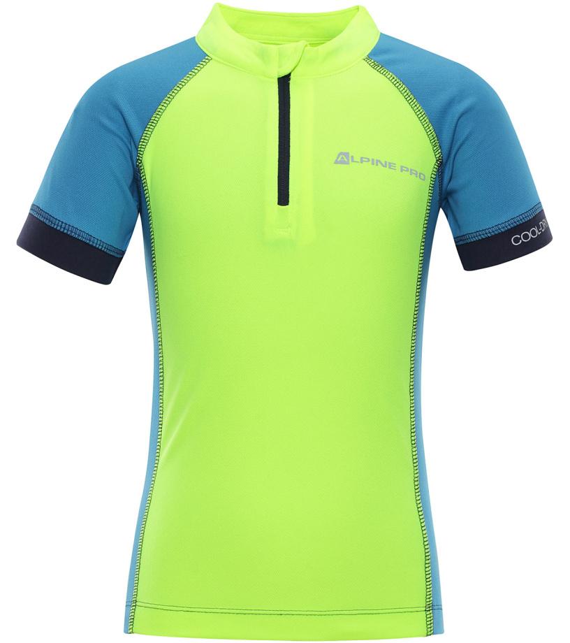 ALPINE PRO SORANO Dětské funkční triko KTSN163530 reflexní žlutá 104-110
