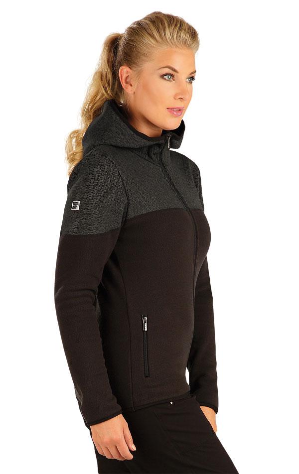 LITEX Fleecová mikina dámská s kapucí. 55192901 černá XL 30e7cea96d