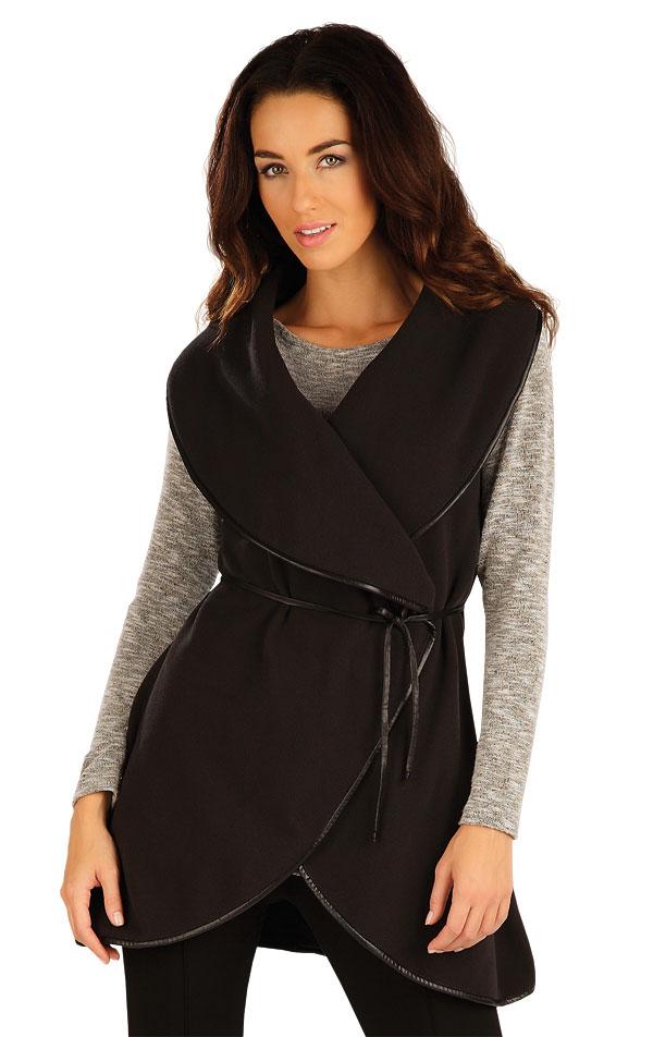 LITEX Fleecová vesta dámská dlouhá. 55206901 černá L/XL