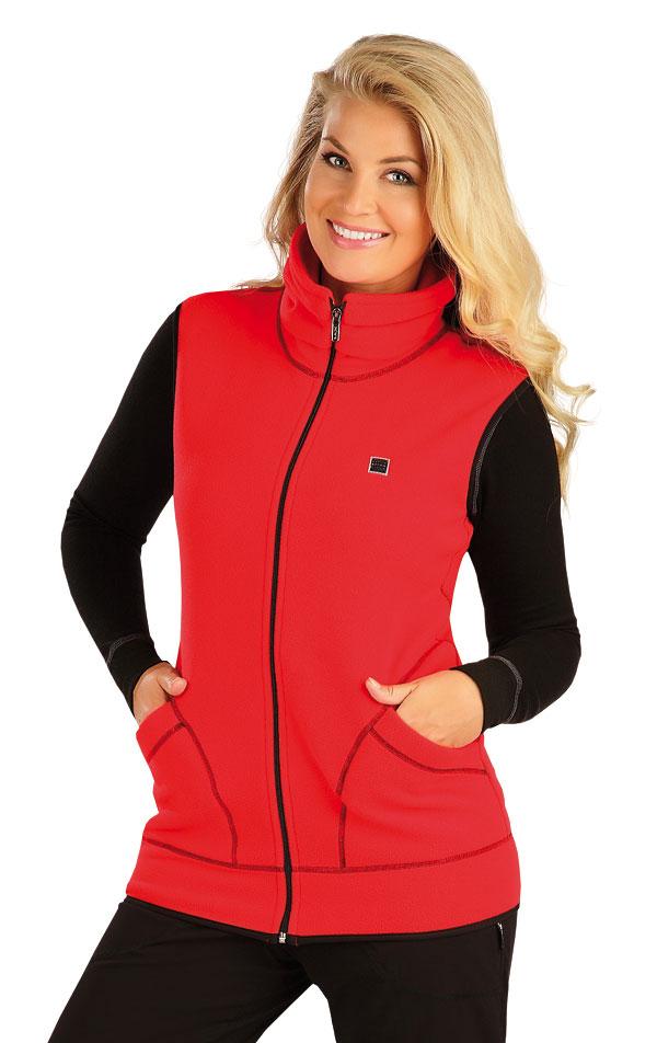LITEX Fleecová vesta dámská. 55214306 červená XL