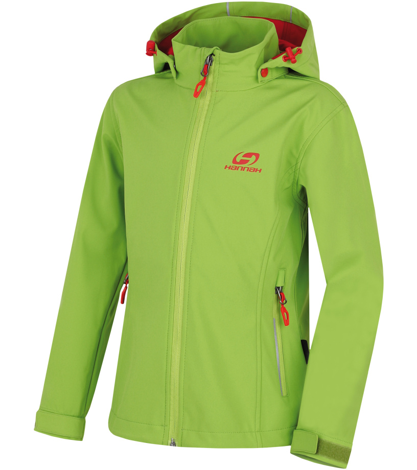 HANNAH Kasha Lite JR Dětská softshellová bunda 117HH0121SJ04 Lime green 140