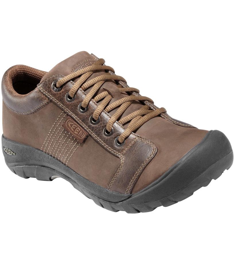 KEEN Austin M Pánské kožené boty C121300001508 chocolate brown 14(48)