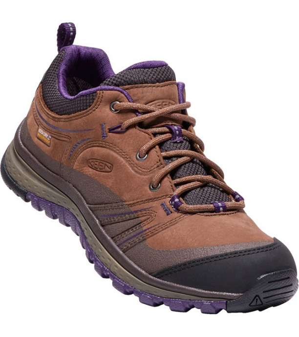KEEN TERRADORA LEATHER WP W Dámské trekové boty KEN1203133602 scotch/mulch 4(37)