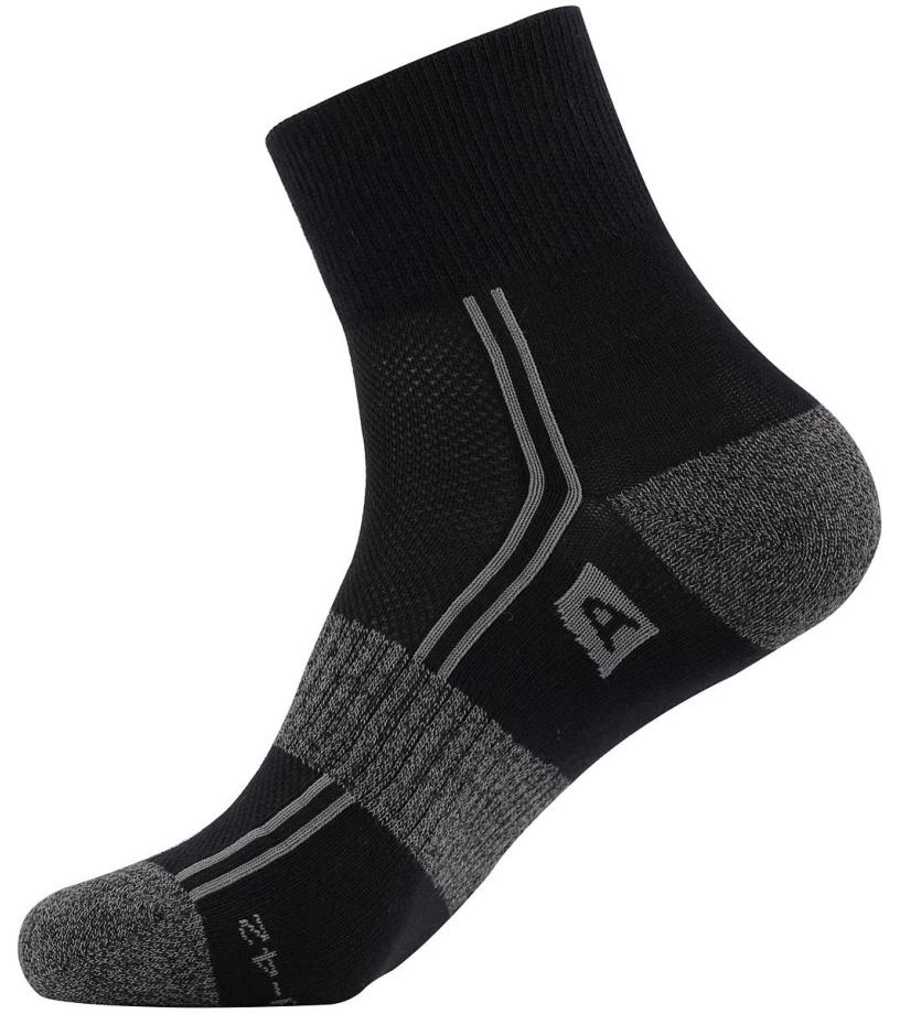 ALPINE PRO 3HARE 2 Unisex ponožky (3 páry) USCM042990 černá