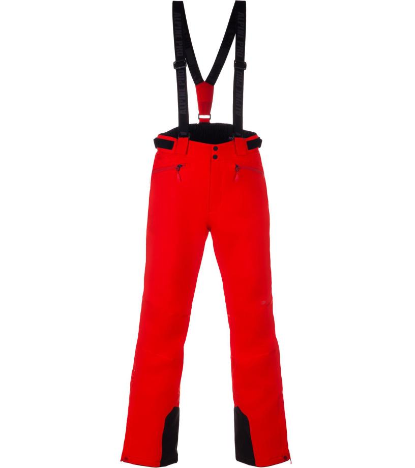 ALPINE PRO SANGO 6 Pánské lyžařské kalhoty MPAM312474 orange.com