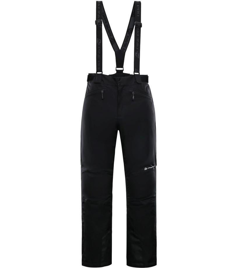 ALPINE PRO SANGO 6 Pánské lyžařské kalhoty MPAM312990 černá