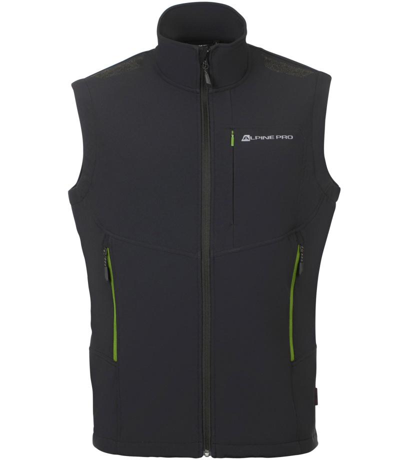 ALPINE PRO ASKLEPIOS 6 Pánská softshellová vesta MVEN053990 černá M