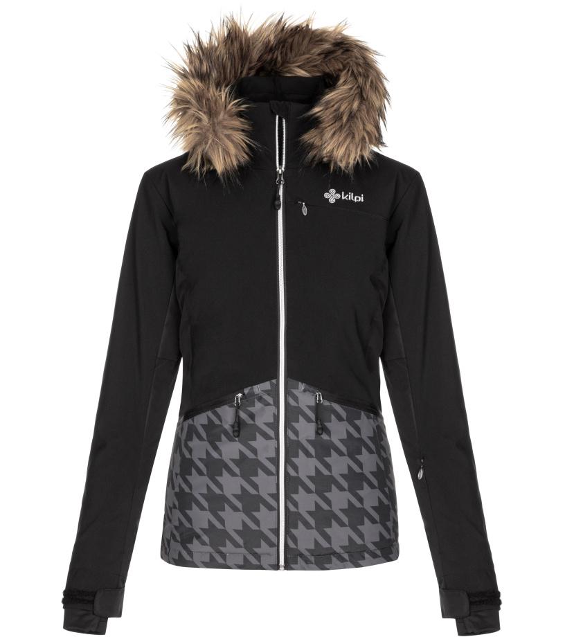 KILPI Dámská lyžařská bunda TESSA-W LL0042KIBLK Černá 38
