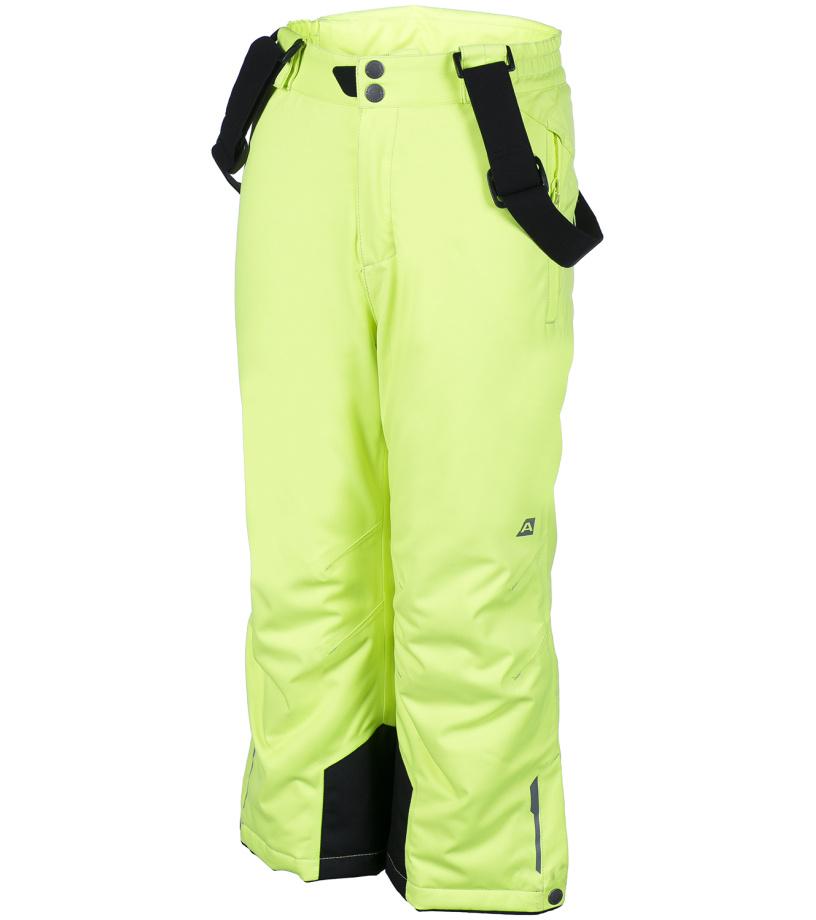 ALPINE PRO AVENTINO Dětské kalhoty KPAF016530 reflexní žlutá 104-110