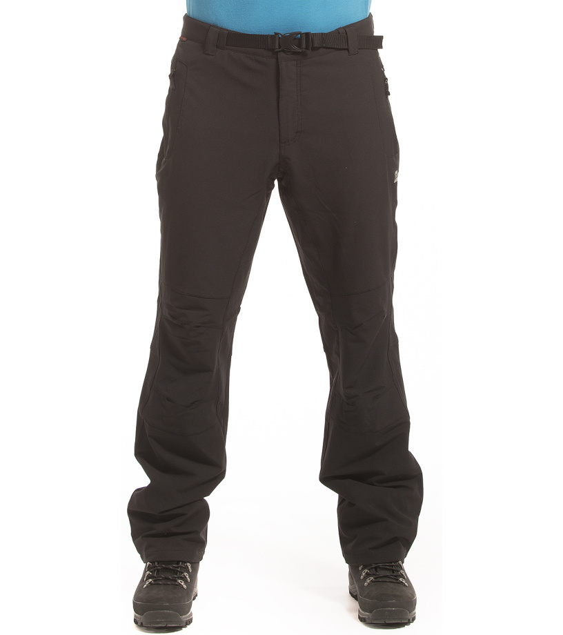 ALPINE PRO CARB INS Pánské softshellové kalhoty MPAF051990 černá 48