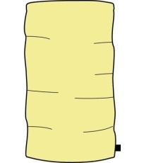 ALPINE PRO ARIELY Uni šál USFE005202 světla žlutá UNI