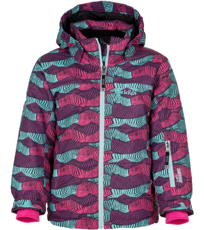 KILPI Dívčí lyžařská bunda GENOVESA-JG HJ0016KIGRN Zelená 110