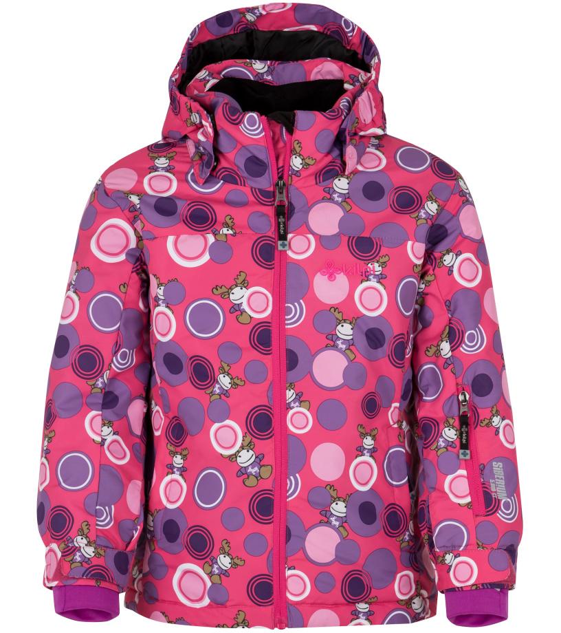 KILPI Dívčí lyžařská bunda GENOVESA-JG HJ0016KIPNK Růžová 110