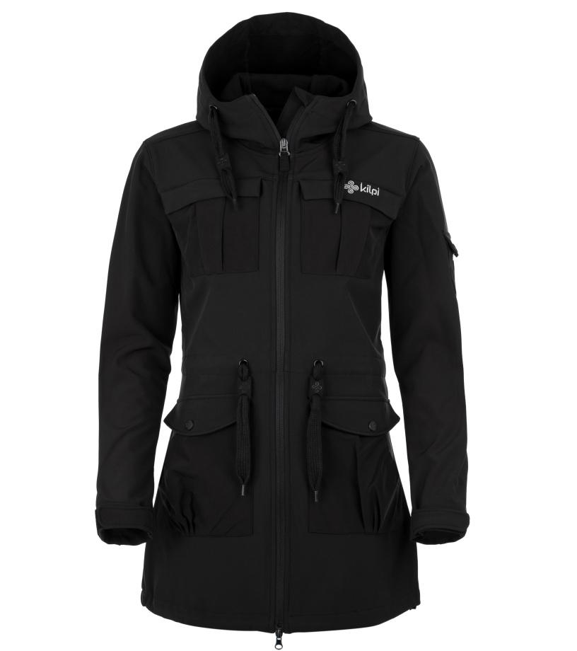 KILPI Dámský softshellový kabát LASIKA-W HL0077KIBLK Černá 36