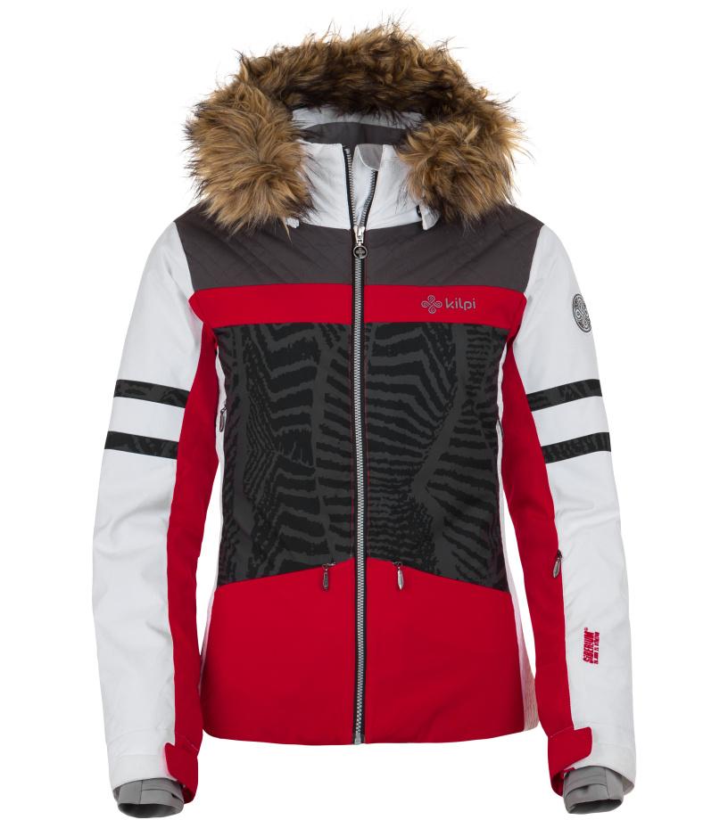 KILPI Dámská lyžařská bunda LESIA-W HL0108KIRED Červená 34