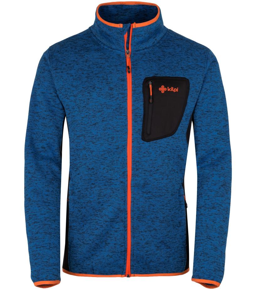 KILPI Pánský fleece svetr RIGAN-M HM0088KIBLU Modrá
