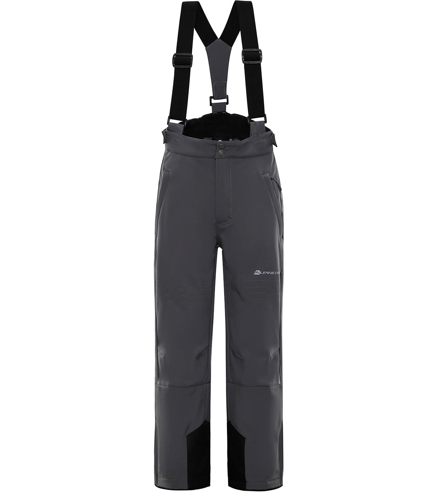 ALPINE PRO NEXO 2 Dětské softshellové lyžařské kalhoty KPAP169770 šedá 128-134