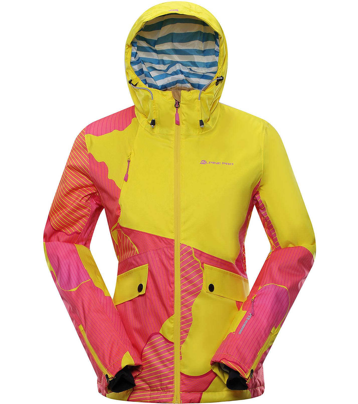ALPINE PRO MAKERA Dámská lyžařská bunda LJCP356205PA žlutooranžová XL
