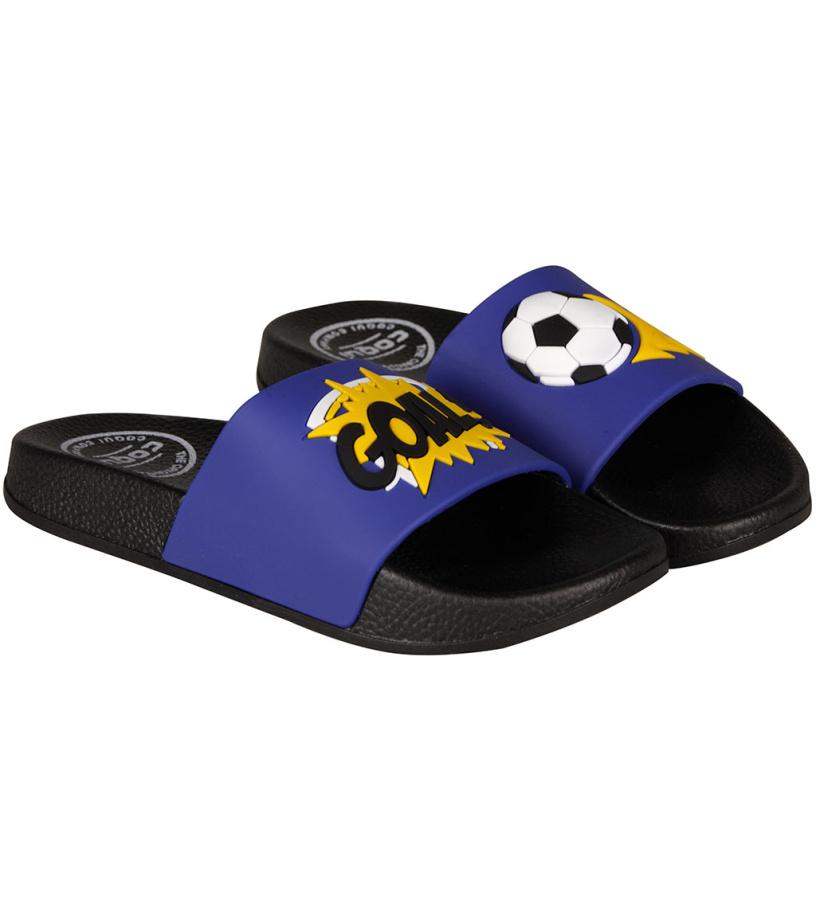 COQUI RUKI Dětské pantofle 6383-572 Football 28/29