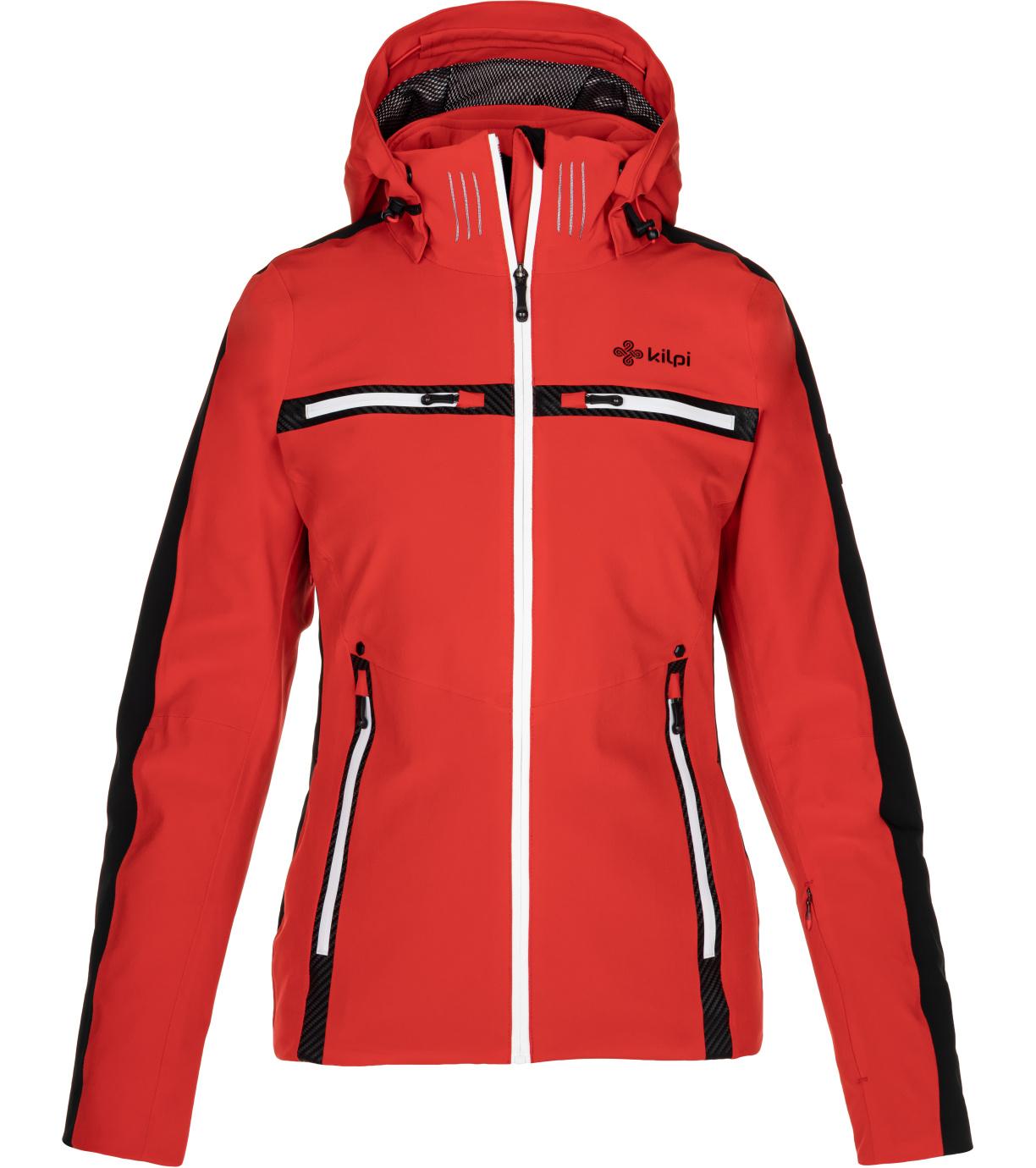 KILPI Dámská lyžařská bunda - větší velikosti HATTORI-W NLX080KIRED Červená 48