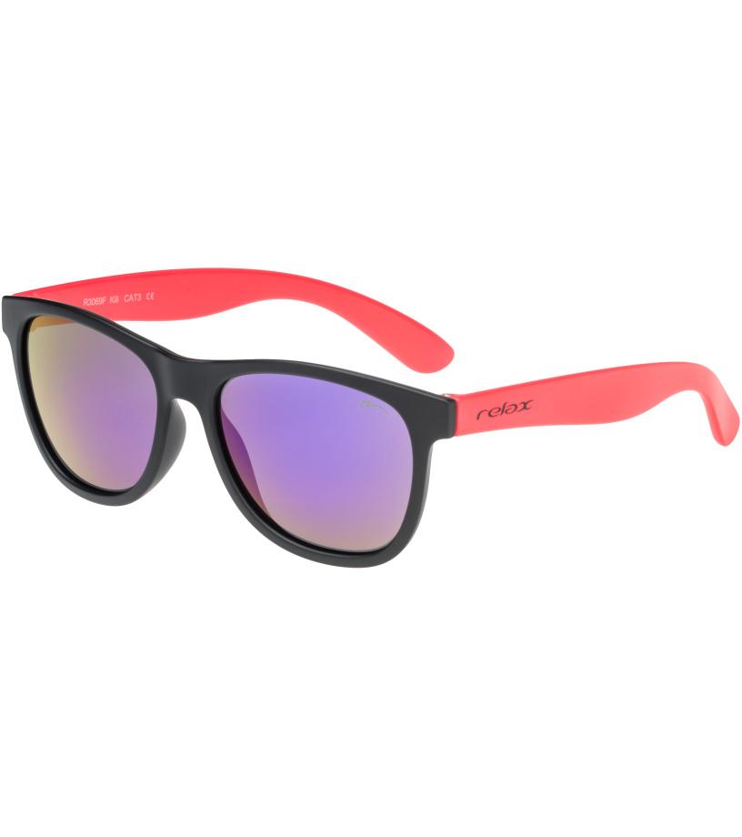 RELAX KILI Dětské sluneční brýle R3069F černá 54-56