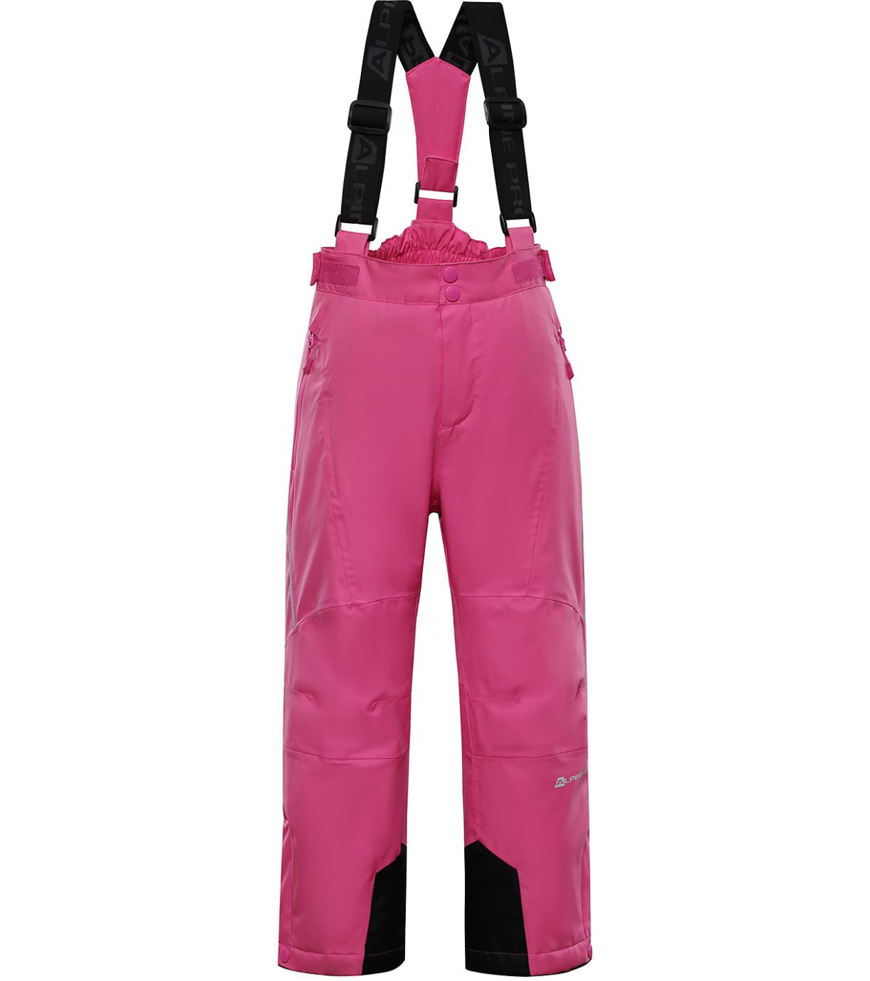 ALPINE PRO ANIKO 3 Dětské lyžařské kalhoty KPAP168407 carmine rose 128-134