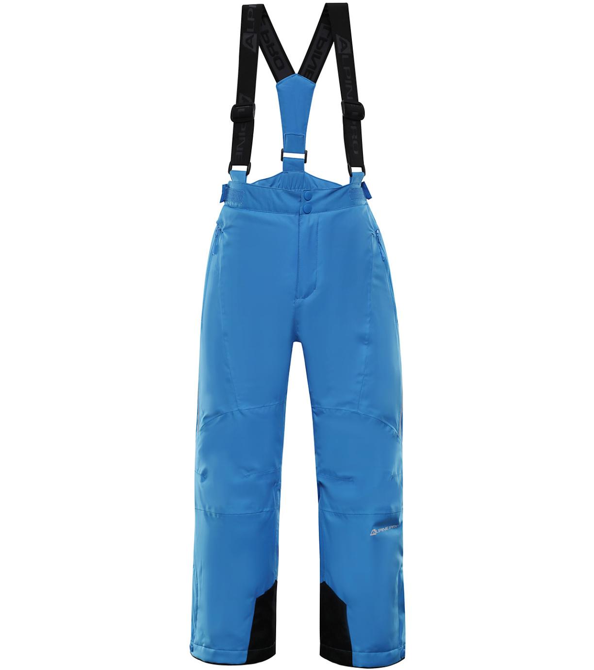 ALPINE PRO ANIKO 3 Dětské lyžařské kalhoty KPAP168674 Blue aster 128-134