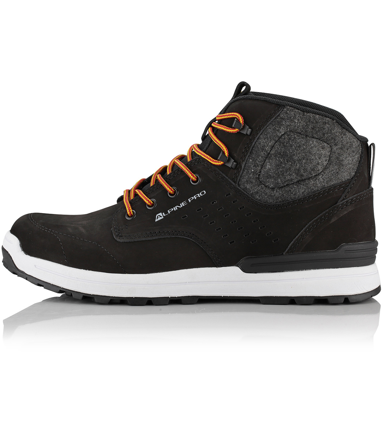 ALPINE PRO HOLLIS Pánská obuv městská MBTP178990 černá 45