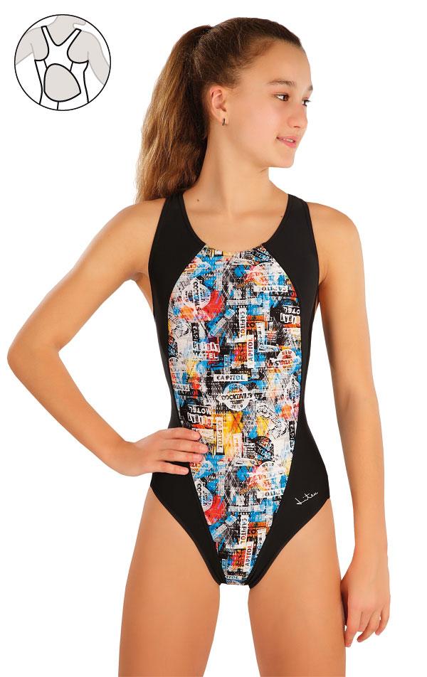 LITEX Dívčí jednodílné sportovní plavky 57586 140