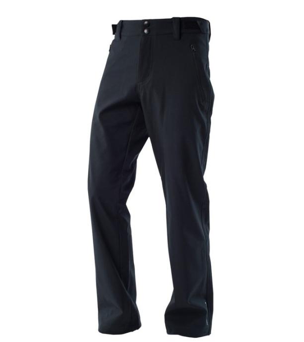 NORTHFINDER CHAD Pánské zateplené softshellové kalhoty NO-3280OR269 černá S
