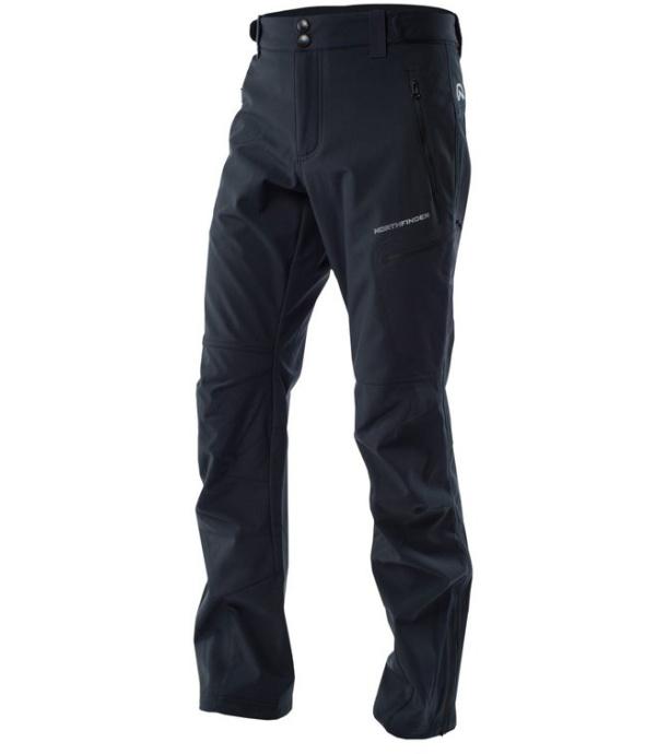 NORTHFINDER HOLMFRID Pánské zateplené softshellové kalhoty NO-3283OR269 černá S